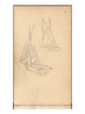 Boats of Trouville (Pencil on Paper)