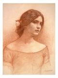 Study for 'The Lady Clare'  C1900 (Red Chalk on Paper) (See 55018)