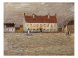 Square  Fort-Philippe  1902 (Oil on Panel)