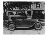 Dupont Automobile on Front of House  C1919-30 (B/W Photo)