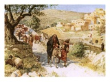 David  Fleeing from Jerusalem  Is Cursed by Shimei