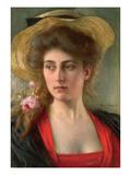 Elegante (Oil on Panel)