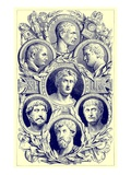 Roman Emperors  Illustration from 'The Illustrated History of the World'  Published C1880