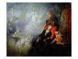 The Artist's Dream  1857 (Oil on Millboard)