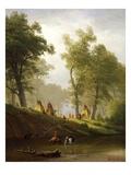 The Wolf River  Kansas  c1859