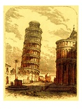 The Leaning Tower  and Apsis of the Cathedral  Pisa  Illustration from 'The World as it Is'
