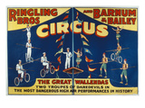 Poster Advertising the Great Wallendas at the 'Ringling Bros and Barnum and Bailey Circus'