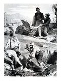The Excavations at Torre Vergata  from 'Memoires D'Outre-Tombe' by Chateaubriand  1850 (Litho)