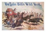 Poster for Buffalo Bill's Wild West Show  C1885 (Colour Litho)