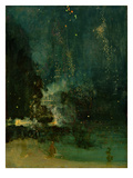 Nocturne in Black and Gold  the Falling Rocket  C1875 (Oil on Panel)