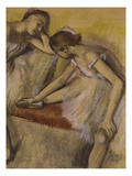 Dancers in Repose  C1898 (Pastel and Charcoal on Wove Paper)