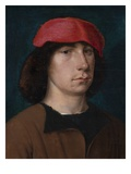 A Young Man in a Red Cap  C1512 (Oil on Oak Panel)