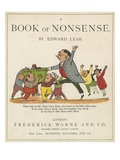 Front Cover of 'A Book of Nonsense'  Published by Frederick Warne and Co  London  C1875