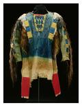 Man's Shirt  Cheyenne  C1860 (Buckskin  Wool  Ermine Skin and Human Hair)