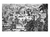 Village of the Susquehanna People  Susquehanna River (Engraving)