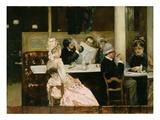 Cafe Scene in Paris  1877