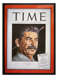 Portrait of Stalin on the Cover of 'Time' Magazine  1945 (Colour Litho)