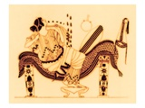 Danae and the Golden Shower  Illustration from 'Greek Vase Paintings'