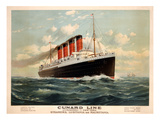 Advertisement for the Cunard Line  C1908 (Colour Litho)