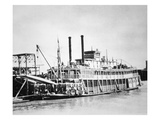 A Stern-Wheeler Loaded with Cotton Bales at New Orleans  C1900 (B/W Photo)