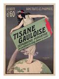 Poster Advertising Tisane Gauloise  Printed by Chaix  Paris  C1900 (Colour Litho)