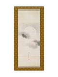 Hanging Scroll Depicting the Autumnal Moon  from a Triptych of the Three Seasons  Japanese