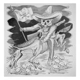 Calavera Zapatista  C1910 (Engraving)