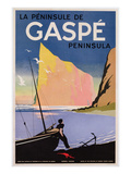 Poster Advertising the Gaspe Peninsula  Quebec  Canada  C1938 (Colour Litho)
