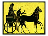 A Greek Chariot  Illustration from 'History of Greece' by Victor Duruy  Published 1890