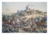 Battle of Nashville  December 15-16Th  1864  Engraved by Kurz and Allison  1891 (Colour Litho)
