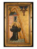 St Francis Receives the Stigmata  Mid-13th Century (Tempera on Wood)