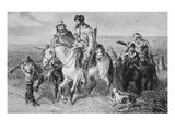Border Ruffians from Missouri Invading Kansas  1856 (Etching)