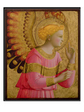 Annunciatory Angel  1450-55 (Gold Leaf and Tempera on Wood Panel) (See also 139312)
