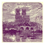 Cathedral of Notre Dame  Illustration from 'French Pictures' by Samuel Green  Published 1878