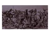 Dervish Warriors at Omdurman  Charge of the 21st Lancers (Litho)