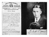 Prohibition Agent Id Card of Eliot Ness (1903-57) Dated 20th May  1927 (Litho)