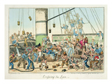 Crossing the Line'  Illustration from a Series of Prints on Life in the Navy  1825 (Colour Litho)