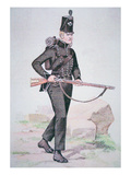 Private of the 95th Rifles  C1810  Armed with the Baker Rifle  Designed by Ezekiel Baker of London