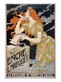 Poster Advertising 'L Marquet Ink  the Best of All Inks'  1892 (Colour Litho)
