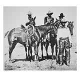 Black Cowboys at Bonham  Texas  C1890 (B/W Photo)