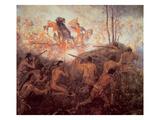 The Death of General Braddock Near Fort Duquesne