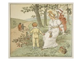 Walking to Mousey's Hall  Illustration from 'A Frog He Would A-Wooing Go'