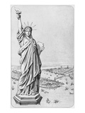 The Statue of Liberty  New York  C1885 (Engraving) (B/W Photo)