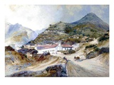 The Village of Angangueo  Mexico  1883 (W/C on Paper)