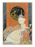 Illustration for 'Fetes Galantes' by Paul Verlaine (1844-96) 1928 (Pochoir Print)