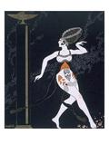 Ballet Scene with Tamara Karsavina (1885-1978) 1914 (Pochoir Print)