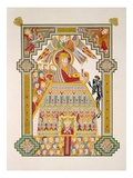 Temptation of Christ  from a Facsimile Copy of the Book of Kells  Published by Day and Son