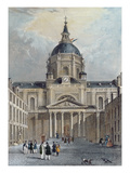 The Courtyard of the Sorbonne  Mid 19th Century (Colour Engraving)