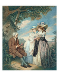 The Moralist  1787 (Hand Coloured Stipple Engraving)