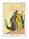 Elle Et Lui  1921 (Pochoir Print)